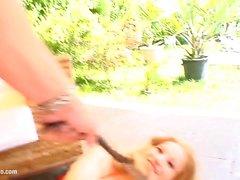 Lorena подросток получает его жестком стилю гонзо об приручаются Подростки