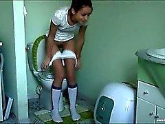 estonian Natasha at water closet