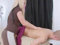 Hot Blonde Masseuse Vanessa Gold Gives a Happy Ending