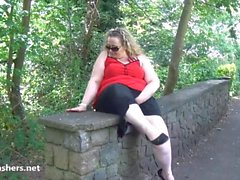 Fat mature flasher Sammis public nudity