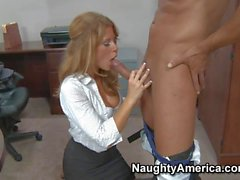 Elegant Brooklyn Lee gets humped at the office