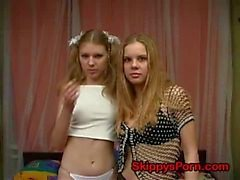 2 cute girls like to play