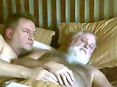 D'âge mûr gais - réveil papa de