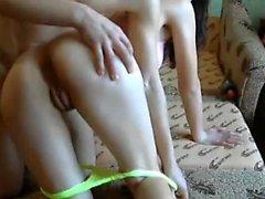 Couple amateur fucking et sucking webcam avec éjaculation