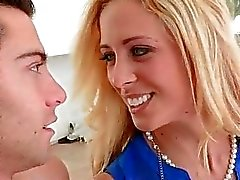 Hot milf Cherie Deville 3some with teens