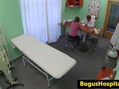 Les patient licking nurses juicy pussy
