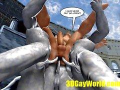 competición culo gays partidos extravagantes de 3D cómico