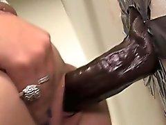 Большой черный член врезался мотыга лицевой