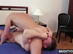 Big Dick Homosexuell-Flip-Flop und abspritzen