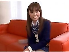 Playful Japanese Schoolgirl In Her Skirt And