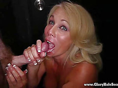 Gloryhole Secrets blond has enjoyment