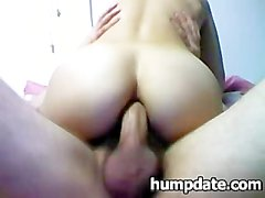 Wife con il bel culetto da il culo speronata con forza