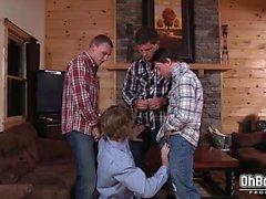 Bryce , de Scott Harbor et Sebastian du Jeune foutre Tom Faulk
