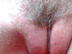 Peloso asiatico preggo masturbazione da vicino