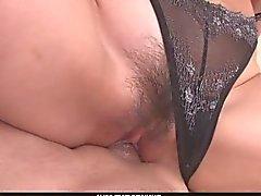 Slim Teen Megumi Shino Takes Double Penetration