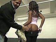 Anaelle a beautiful black girl fucked