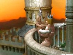 3D Witze Königs und der Königin heißen fucking im Schloss