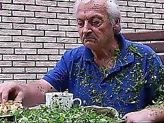 Tonårs Skol Svälj Grandpa Cumshot fitta Knull