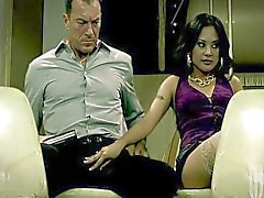 With sexual cute Kaylani Lei on a train