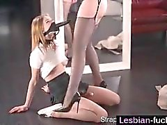 Maria Pie with Two Strapons - lesbian-fucks
