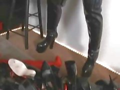 Shoe Slave covert whit high heels