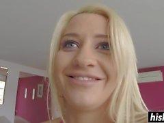 Blonde Sienna Tag fuhr ein dicker Schwanz
