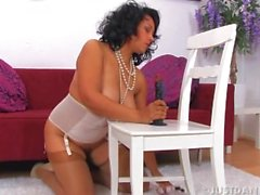 Danica Collins enjoying her sex toy