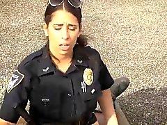 Ebony Polizei strapon Einbruchsversuch Suspect hat zu ficken hallo