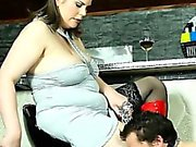 BBW misstress spanks and facesits her gagged boy-toy