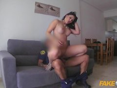 Fake Cop Busty Brit Fucked in Spain