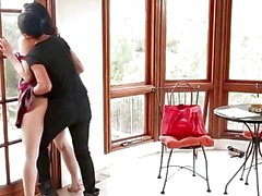 Aria Alexander Punished by Strapped MILF