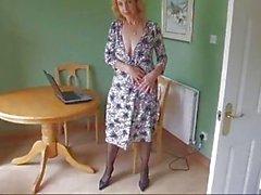 Älterer Bodystockings Pantyhose Streifen