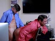 Cock Hungry Boss Barebacked by Interns Big Dick