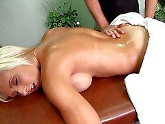 De Jessica Lynn polla un masaje