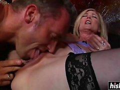 Beautiful girls play with big cocks