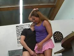 Nasty girl punishes a stiff dick
