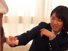 Japanese Teen In Uniform Banged Sideways