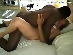 Hubby films his mature wife with Black Hunk