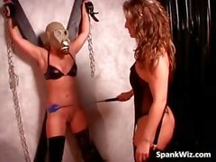 Awesome fetish lesbian action where