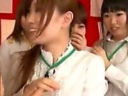 Japenese office ladies get breasts fondled
