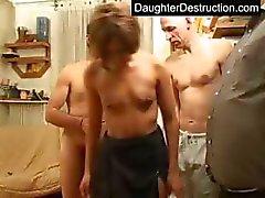 Dochters eerste ruwe neuken