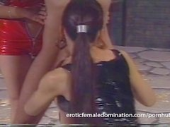 Loser endures everything that two hot mistresses throw at him