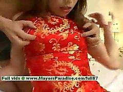 De Ayane innocent chica china disfruta una maldita núcleo