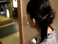 Horny Japanese housewife with a slim body is on the lookout