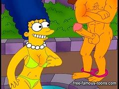Simpsons and Futurama hentai orgies