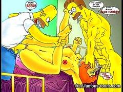 Simpsons und Futurama Hentai Orgien