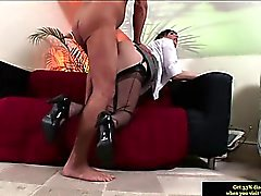 Classy british MILF being pussy nailed