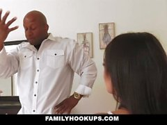 FamilyHookUps - Teen Gets Pounded By Black Stepdad