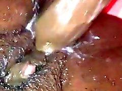 D'ebano grandi del clit orgasim cazzo figa crema bagnati