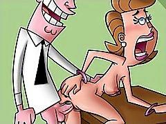 Cartoon Mütter housewifes und ihre Hahnrei machen Pornos